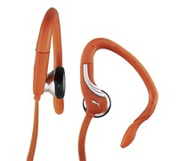 Puma Pro Performance Ear Bud Headphones + Mic (Vibrant Orange)