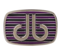 Druh Stripe Purple/Black Belt Buckle (Purple/Black)