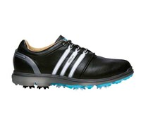 Adidas Mens Pure 360 Golf Shoes 2014 (Black/Silver/Blue)