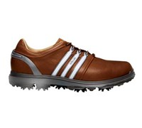 Adidas Mens Pure 360 Golf Shoes 2014 (Tan Brown/Silver Metallic)