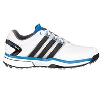 Adidas Mens Adipower Boost Golf Shoes 2015 (White/Black/Blue)
