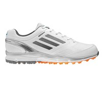 Adidas Mens Adizero Sport II Golf Shoes 2014 (White/Silver)
