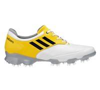 Adidas Mens Adizero Tour Golf Shoes 2013 (Running White/Vivid Yellow)
