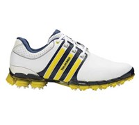 Adidas Mens Tour 360 ATV M1 Golf Shoes 2014 (White/Yellow)
