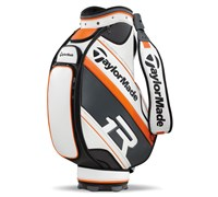 TaylorMade R1 TMX Tour Staff Bag (White/Grey/Orange)