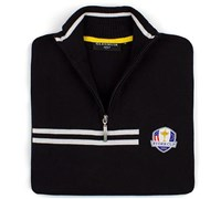Glenmuir Mens Ryder Cup Faskally Zip Neck Sweater (Black/White)