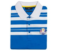 Glenmuir Mens Ryder Cup Ochil Cotton Polo Shirt (Blue/White)