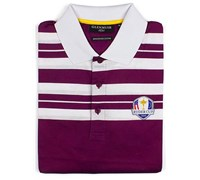 Glenmuir Mens Ryder Cup Ochil Cotton Polo Shirt (Tayberry/White)