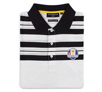 Glenmuir Mens Ryder Cup Ochil Cotton Polo Shirt (White/Black)