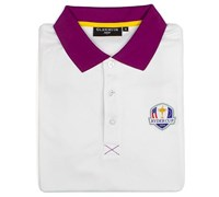Glenmuir Mens Ryder Cup Strathearn Performance Polo Shirt (Tayberry/White)