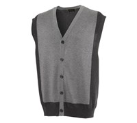 Greg Norman Mens Retro Cardigan Vest 2012 (Dark Grey/Heather)