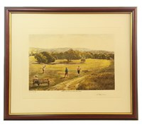 Arthur Weaver Golf Series Prints (A Risky Drive)