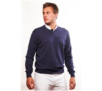 Stromberg Mens Riviera Cotton Golf Jumper 2014 (Navy/Blue)