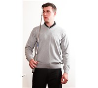Stromberg Mens Riviera Cotton Golf Jumper 2014 (Silver Grey)