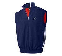 Mizuno Mens Wind Zip Neck Sweater Vest 2014 (Navy)