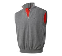Mizuno Mens Wind Zip Neck Sweater Vest 2014 (Charcoal)