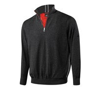Mizuno Mens Windproof Zip Neck Lined Sweater 2014 (Black)