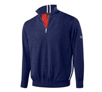 Mizuno Mens Windproof Zip Neck Lined Sweater 2014 (Navy)