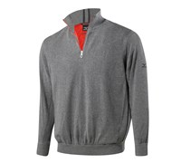 Mizuno Mens Windproof Zip Neck Lined Sweater 2014 (Charcoal)