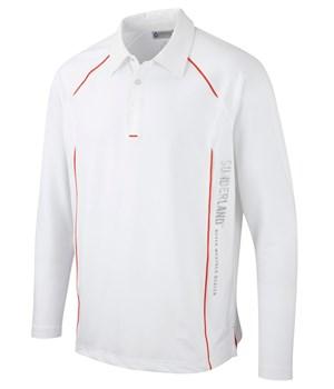 Sunderland long sleeved golf polo shirt s m l xl xxl for Long sleeve purple polo shirt