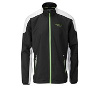 Stuburt Mens Sport Lite Full Zip Windshirt 2014 (Black/White/Green)