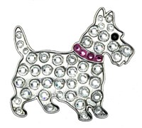 Navika Ball Markers With Crystals (Scottie Pink)