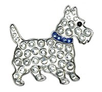 Navika Ball Markers With Crystals (Scottie Blue)