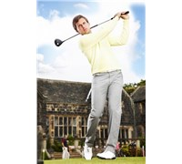 Stromberg Mens Silves Golf Trousers (Grey/Yellow)