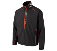 Sunderland Mens Sirocco Long Sleeve Windshirt (Black/Red)