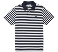 Lyle and Scott Striped Polo Shirt (New Navy)