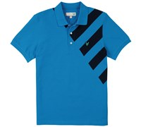 Lyle and Scott Graphic Printed Polo Shirt (Bright Blue)