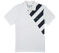 Lyle and Scott Graphic Printed Polo Shirt (White)