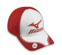 Mizuno Sports Magna Golf Cap (White/Red)