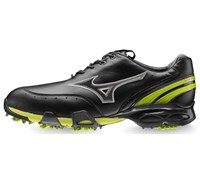 Mizuno Mens Stability Style Golf Shoes (Black/Lime)
