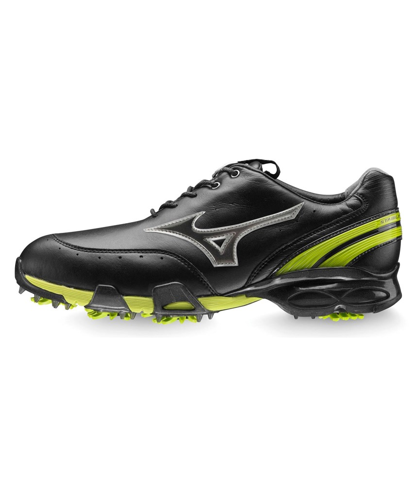 mizuno mens stability style golf shoes blacklime