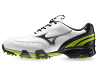 Mizuno Stability Style Golf Shoes (White/Lime)