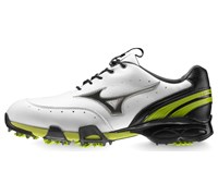 Mizuno Mens Stability Style Golf Shoes (White/Lime)