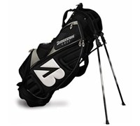 Bridgestone BSG Golf Stand Bag (Black/Silver)