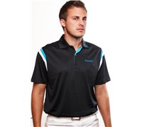 Stromberg Mens Valderrama Cool Dry Golf Shirt (Black/White)