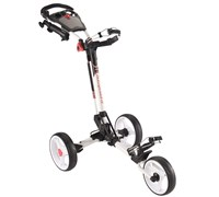 MD Golf Superstrong Deluxe Push Trolley Cart 2014 (White/Red)