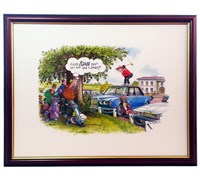 Bill Kimpton - Humorous Golf Prints (Take a Divot)