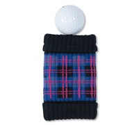 GreenSleeve Pocket Golf Ball Cleaner and Club Cleaner (Tartan (Blue Black Pink))