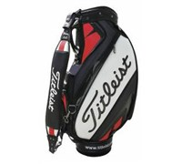 Titleist 9.5 Inch Tour Vinyl Staff Bag 2014 (Black/White/Red)