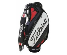 Titleist 9.5 Inch Tour Vinyl Staff Bag 2013 (Black/White/Red)
