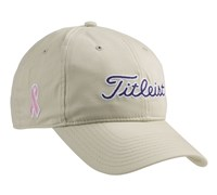 Titleist Ladies Pink Ribbon Cap 2013 (Stone/Navy)