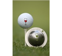Tin Cup Ball Marker - Bordeaux