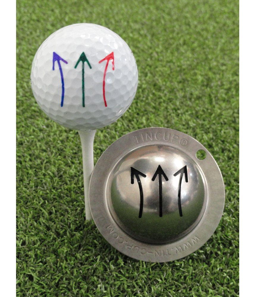 how to draw a straight line on a golf ball