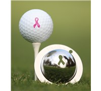 Tin Cup Ball Marker - Breast Cancer Awareness