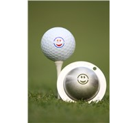 Tin Cup Ball Marker - Smiley