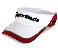 TaylorMade Tour Visor (White/Red)